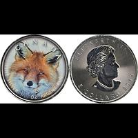 Kanada 2019 5 Dollar ML - Canada´s Wildlife Rotfuchs Stgl.