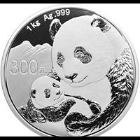 China 2019 300 Yuan Silberpanda PP