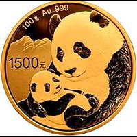 China 2019 1500 Yuan Goldpanda PP