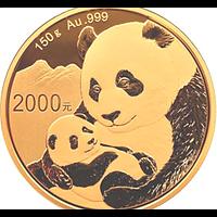 China 2019 2000 Yuan Goldpanda PP