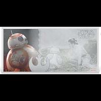 Niue 2019 1 Dollar Star Wars/The Force Awakens – BB-8 - Silberbanknote Stgl.