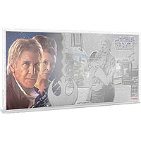 Niue 2019 1 Dollar Star Wars/The Force Awakens – Leia und Han Solo - Silberbanknote Stgl.