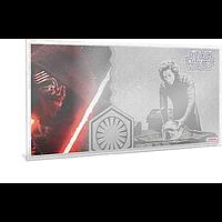 Niue 2019 1 Dollar Star Wars/The Force Awakens – Kylo Ren - Silberbanknote Stgl.
