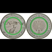 5 Euro Gemäßigte Zone 2019 bfr Deutschland - grün