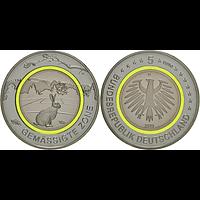 5 Euro Gemäßigte Zone 2019 D bfr Deutschland