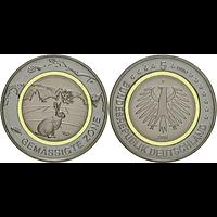 5 Euro Gemäßigte Zone 2019 F bfr Deutschland