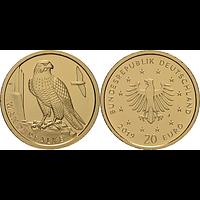 20 Euro Wanderfalke 2019 Stgl. Deutschland Gold - Buchstabe unserer Wahl