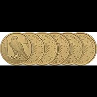 20 Euro Wanderfalke - Komplettsatz 2019 Stgl. Deutschland Gold
