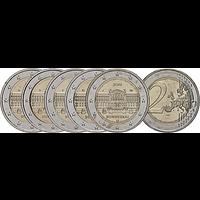 2 Euro Bundesrat - Komplettsatz Münzen 2019 bfr Deutschland