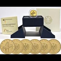 50 Euro Hammerflügel Komplettsatz 2019 Stgl. Deutschland Gold