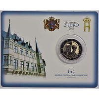 2 Euro Charlotte 2019 bfr Luxemburg Coincard