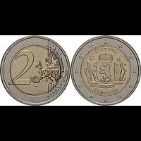 2 Euro Zemaitija Samogitien 2019 bfr Litauen