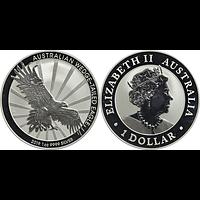 Australien 2019 1 Dollar Keilschwanzadler Stgl.
