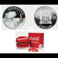 Fidji Inseln 2019 2 Dollar Coca-Cola Polar Bear PP
