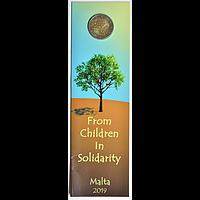 2 Euro Solidarität - Natur, Umwelt 2019 Stgl. Malta Blister