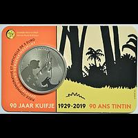 5 Euro 90 Jahre Tintin - Tim und Struppi 2019 Stgl. Belgien Coincard