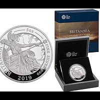 Großbritannien 2019 10 Pfund Britannia 5 oz PP