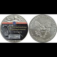 USA 2019 1 Dollar Silber Eagle - Erster Schritt auf dem Mond Stgl.