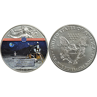 USA 2019 1 Dollar Silber Eagle - Lunar Module Stgl.