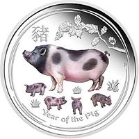 Australien 2019 50 Cent Jahr des Schweins - farbig Stgl.
