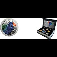 Neuseeland 2019 4,80 Dollar Kursmünzensatz North Island Takahe incl. 1 $ Takahe Silber farbig nur in diesem Satz erhältlich PP