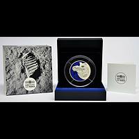 50 Euro Mondlandung 2019 PP Frankreich Silber