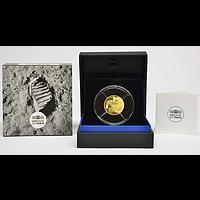 50 Euro Mondlandung 2019 PP Frankreich Gold