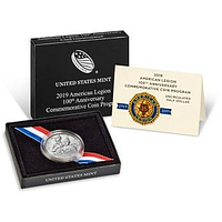 USA 2019 1/2 Dollar 100 Jahre Amerikanische Legion Stgl.