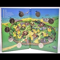 Frankreich 2019 Asterix Medaillen-Set - 9 offizielle Mini-Medaillen Stgl.