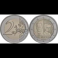 2 Euro Charlottes Thronbesteigung Münzzeichen Brücke 2019 Stgl. Luxemburg