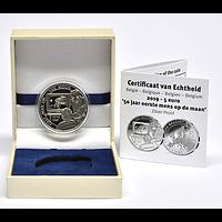 Belgien 2019 5 Euro 50 Jahre erster Mensch auf dem Mond PP
