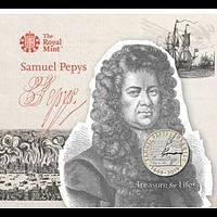 Großbritannien 2019 2 Pfund Samuel Pepys Tagebuchh im Blister Stgl.