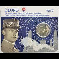 2 Euro Stefanik 2019 Stgl. Slowakei Coincard
