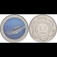 Spanien 2019 1,5 Euro Flugzeugträger Juan Carlos I. #10 bfr