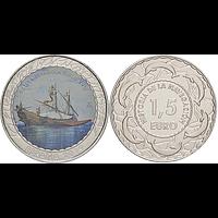Spanien 2019 1,5 Euro Spanische Galeere 17. Jh. #11 bfr