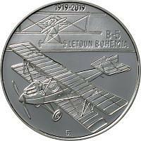 Tschechische Republik 2019 200 Kronen 100 Jahre Bohemia B-5 /1. Tschech. Flugzeug PP