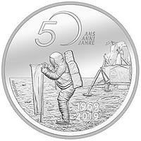 Schweiz 2019 20 sfr 50 Jahre Mondlandung Apollo 11 Stgl.