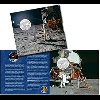 Schweiz 2019 20 sfr 50 Jahre Mondlandung Apollo 11 im Folder Stgl.