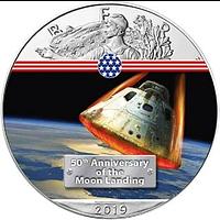 USA 2019 1 Dollar Silber Eagle – Command Module Stgl.