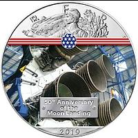 USA 2019 1 Dollar Silber Eagle – Engine Saturn V Stgl.