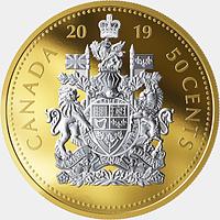 Kanada 2019 50 Cent Große Münzen - Wappen #5 PP