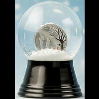 Cook Islands 2019 1 Dollar Winter Wonderland - in der Schneekugel PP