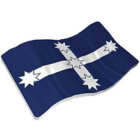 Niue 2019 2 Dollar Eureka Stockade Flagge - Rebellion von 1854 Stgl.
