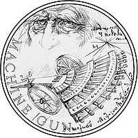 Niue 2019 1 Dollar Inventions of Leonardo Da Vinci- Machine Gun PP