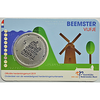 5 Euro Beemster 2019 vz. Niederlande Coincard