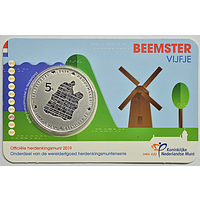 5 Euro Beemster 2019 Stgl. Niederlande Coincard