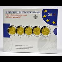 2 Euro Mauerfall Komplettsatz VfS 2019 PP Deutschland