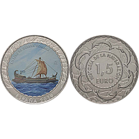 Spanien 2019 1,5 Euro Römische Bireme #14 bfr