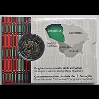 2 Euro Zemaitija Coincard 2019 Stgl. Litauen