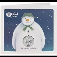 Großbritannien 2019 50 Pence Snowman - im Blister Stgl.